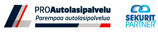ProAutolasipalvelu -logo sekä Seurit Partner -logo.